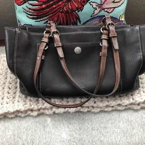 Coach Pebbled Brown Leather Purse